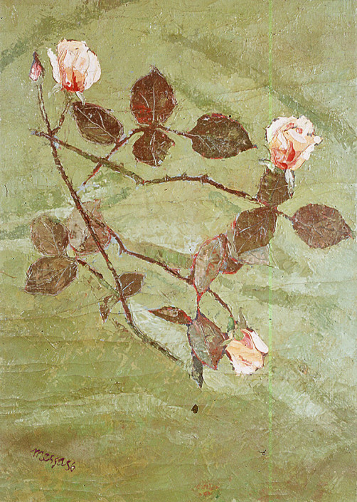 Wilted roses in the ground